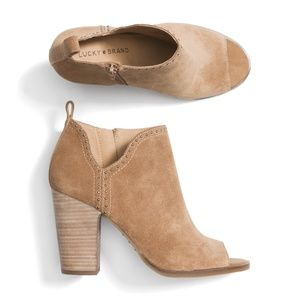 LUCKY BRAND BOOTIES worn ONCE